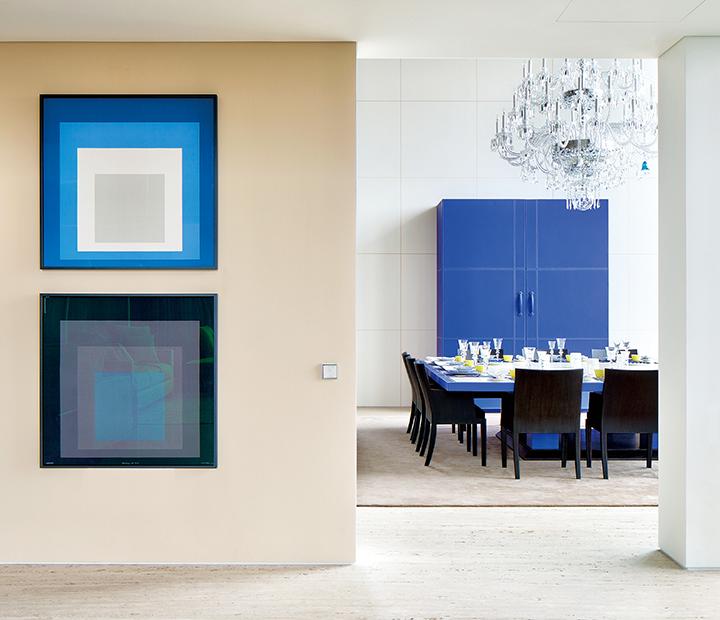 由愛馬仕的皮革工匠為The Marq專屬設計,獨一無二的餐桌和餐具櫥櫃。