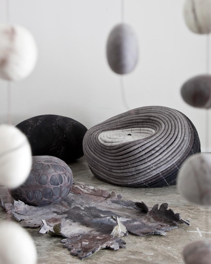 Ndebele ,carpet,silk +wool