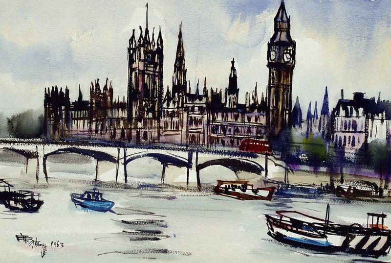《歐洲風景》, 1963 (國立臺灣美術館典藏,席德進基金會授權)