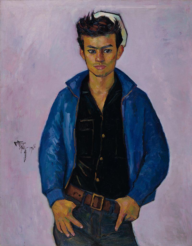 席德進,〈青年像〉,1966,油彩、畫布,97.0x76.0cm,國立臺灣美術館收藏,財團法人席德進基金會授權。