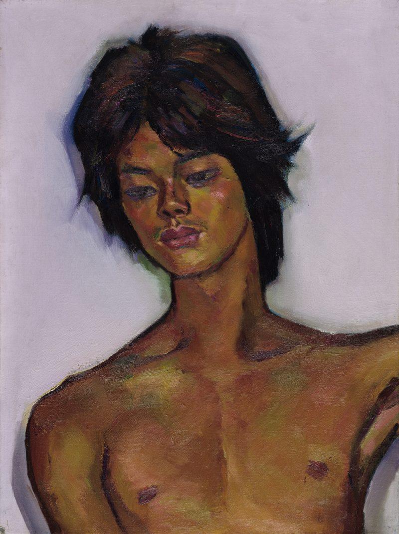 《男胸像》-1970年代-國立臺灣美術館典藏,席德進基金會授權